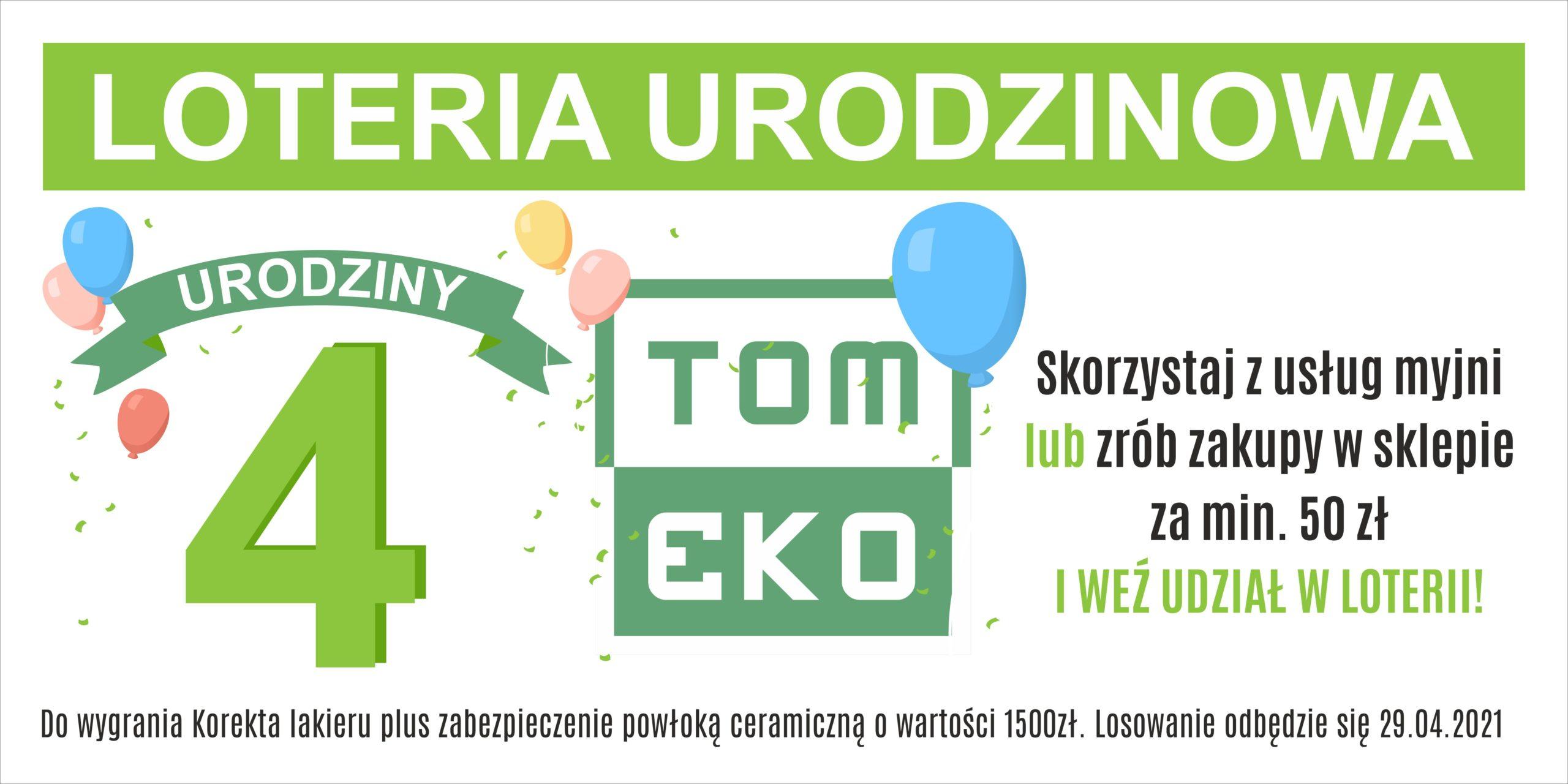 Loteria urodzinowa Tom-Eko urodziny baner 2x1 m(1)